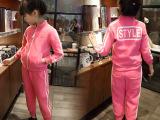 贝秀贝2015秋冬新款 男女童薄绒套装卫衣+运动裤两件套R205