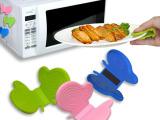 大量批发 硅胶厨房用品 蝴蝶形硅胶蝴蝶夹/隔热夹/防烫夹 硅胶厂