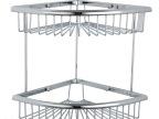 喜多利浴室卫生间全铜双层置物架三角转角网篮收纳工具XDL-1334
