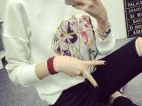 秋款韩版大码女装钻石印花宽松打底衫上衣长袖t恤卫衣