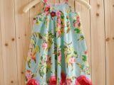 C家专柜同款 夏季新款童装全棉印花不规则裙摆吊带裙批发