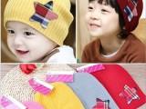 2015儿童帽子秋款五角星套头帽 冬季韩版男女宝宝毛线帽针织帽子