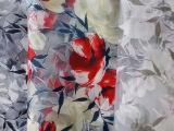 工厂直销夏季欧根纱烧花印花色泽鲜艳环保印
