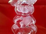 吹制开口笑猪猪玻璃酒瓶白酒瓶异形生肖猪酒瓶空心玻璃猪猪酒瓶