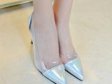 2014秋季纯色细跟尖头女鞋 韩国风格 女鞋 一件代发