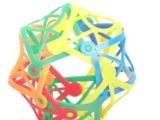 塑料编制雪花片积木 百变花篮拼打 彩色软