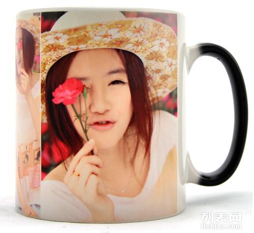 海马克杯印刷 情侣变色杯定制照片 送男朋友礼物图片