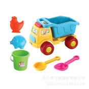 夏天过家家沙模 沙滩玩具车 6件套装