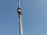 爬梯式灯杆及简易投光灯塔