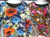 2014年新款 女士爆款 时尚紧身保暖单衣  印花时尚保暖上衣