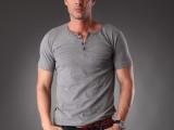 2013春夏新款 纯色纯棉圆领 韩版男士短袖T恤衫 批发 一件代