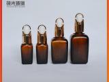 35ml茶色方精油瓶 琥珀色玻璃瓶 专业加工定制 葆光玻璃厂直销