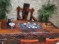 菏泽老船木家具批发船木茶桌椅组合特价实木茶台
