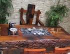 德宏老船木茶几批发仿古实木茶桌将军台功夫茶桌椅
