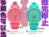 大量现货供应 日内瓦硅胶手表 12个颜色齐全 硅胶手表厂家批发