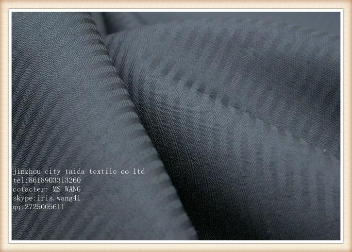 染色涤棉 80/20 110x76鱼骨纹口袋布