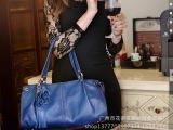 欧美时尚女包2014新款真皮潮女花朵通勤手提斜挎单肩包