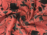 2015秋冬新款 金丝绒复合特种绣花布 仿毛不倒绒刺花面料