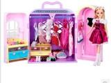 乐吉儿梦幻衣柜橱芭比娃娃套装大礼盒正品2014可儿洋娃娃公主玩具
