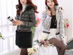 实拍2014秋冬女装棉服 韩版女士棉衣外套两穿蕾丝连帽中长款批发