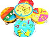 奥尔夫乐器音乐玩具 木制铃鼓/儿童乐器/工艺铃鼓 手拍鼓