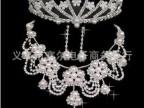 淘宝** 8mm大珍珠 项链 耳环 皇冠 三件套 新娘饰品  TZ099