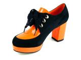 厂家直销2013秋季真皮新品高跟鞋防水台粗跟鞋撞色拼接女鞋子批发