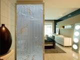 佛山金筑达艺术玻璃不锈钢屏风隔断 家居玄关金属屏风