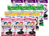 韩国进口 ZEK 加钙低盐碳烤儿童即食海苔休闲食品批发 24包/