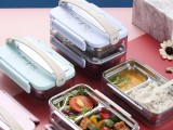 時尚潮流個性便當盒簡約創意便攜保暖飯盒