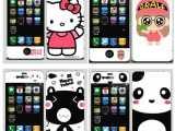 批发 iphone4S手机保护膜卡通膜 苹果4高清贴膜 彩膜 H