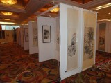 北京画展搭建,白色书画展板出租,画展展板租赁