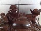 黑檀木弥勒佛像