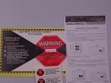木箱冲击指示器 高效安全防震撞显示标签贴运输防损坏标签