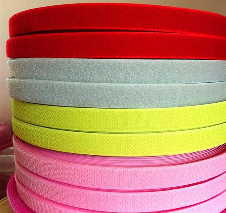 厂家现货供应 彩色尼龙魔术贴 强力彩色毛刺尼龙魔术贴