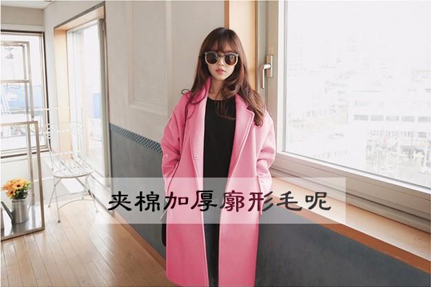 时尚女装批发潮款热销爆款毛呢大衣最低价批发货到付款质量保证