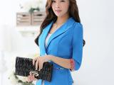 小西装 女外套潮装韩版大码女装 短款修身西服小西装外套
