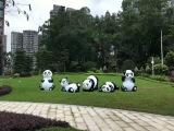 大型气模熊猫岛出租 熊猫卡通展出租 熊猫岛