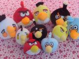 毛绒玩具厂家批发直销品牌优质20cm愤怒的小鸟公仔挂件全套