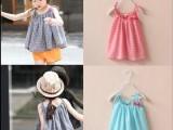 2015夏季新款儿童装女童中小童格子蝴蝶结吊带衫 韩版女宝宝上衣