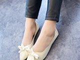 厂家直销2014春季韩国正品女鞋韩彩英蝴蝶结浅口平跟平底单鞋女