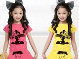 厂家直批发2015新款夏季童装儿童女童套装短袖短裙子套装韩版纯棉