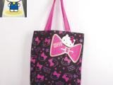 日本原单 HELLO KITTY印花单肩包 购物袋 两款选