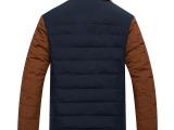 爱洲马男装 冬装2014男士棉衣 韩版立领修身短款加厚棉袄毛领外