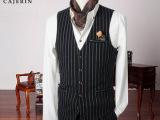 男士马甲套装薄款 结婚礼服新郎夏英伦风复古时尚小马甲套装韩版