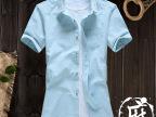 夏季新品亚麻衬衫男士棉麻衬衣男式短袖寸衫
