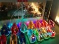 双人未来碰碰火星战车彩灯发光儿童音乐定时大型广场游艺设备玩具