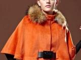 2012外贸女装,双面顺呢短款毛领蝙蝠袖