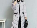 2017新款韩板女中长款修身棉服冬装时尚外套