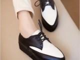2013秋季洛丽塔新款尖头OL上班族色拼接简约单鞋轻盈松糕女鞋批